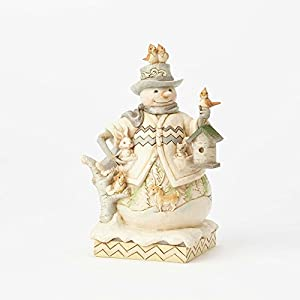 ENESCO(エネスコ) WhiteWood Snowman w/Birdhouse WhiteWood Snowman w/Birdhouse Sing For Winter 4058734 [並行輸入品]
