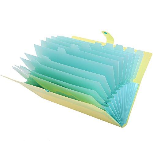 KAMA BRIDALファイルケース a4 スナップ式 12分類 大容量 防水 フォルダー 書類ケース ドキュメントスタンド ファイルボックス ファイルフォルダー 紙挟み ラベル付き 耐用 持ち運び 便利 笑顔柄 (萌黄)