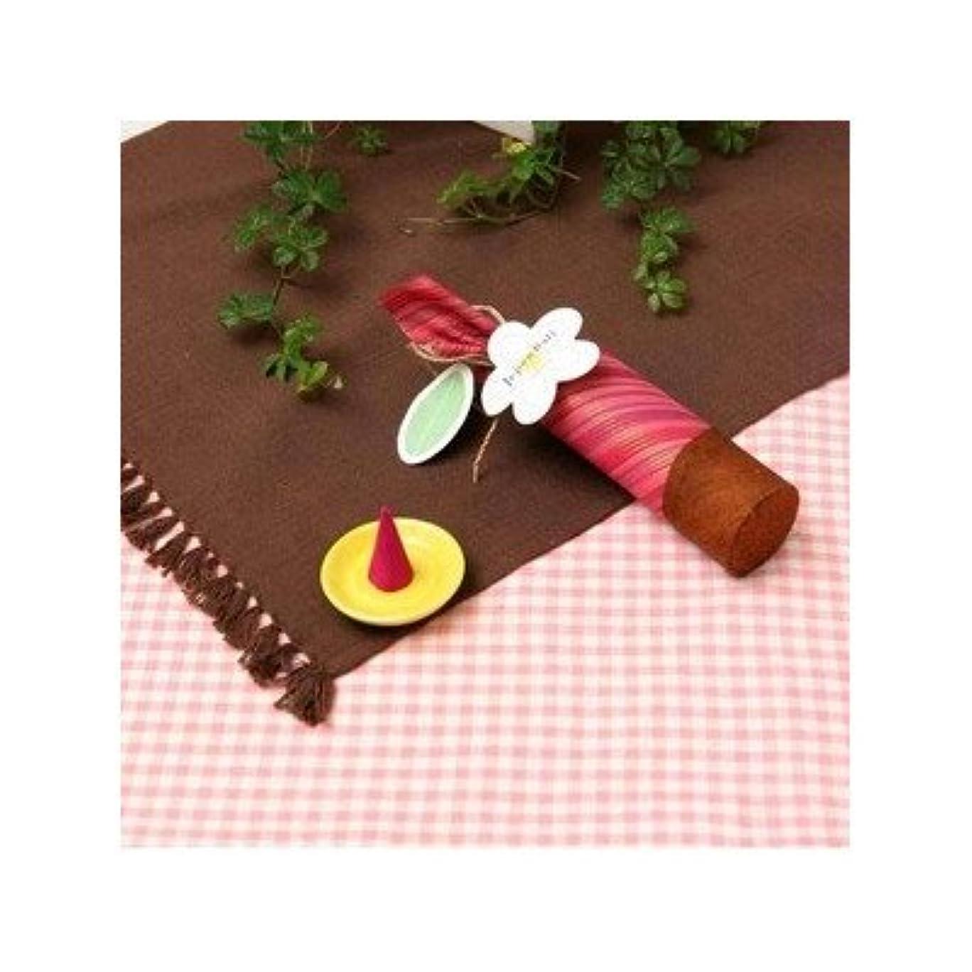 昆虫を見る嵐の起きるお香/インセンス 〔桜の香り コーンタイプ10個入り〕 バリ島製 「Jupen Bari ジュプンバリ」[通販用梱包品]
