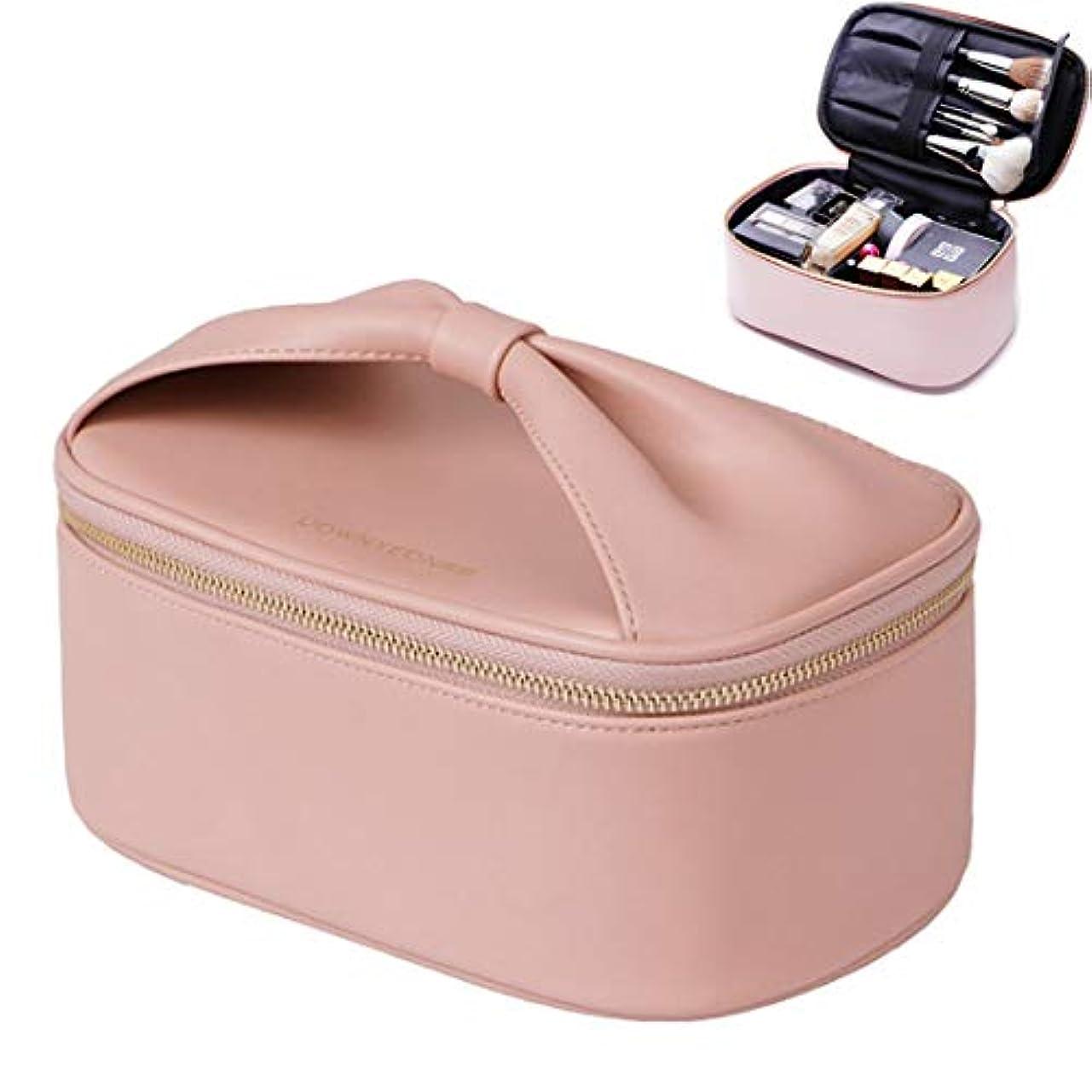 そっとなす満足できるRownyeon化粧ポーチ 大容量 バニティポーチ メイクポーチ コスメポーチ ブラシ入れ付き かわいい 化粧品収納 機能的 旅行 出張 人気