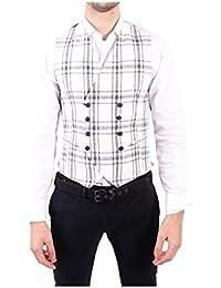 (タリアトーレ) Tagliatore メンズ トップス ベスト・ジレ White Cotton Vest [並行輸入品]