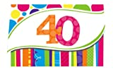 Creative Converting 40歳の誕生日招待状 明るく大胆な8枚入り