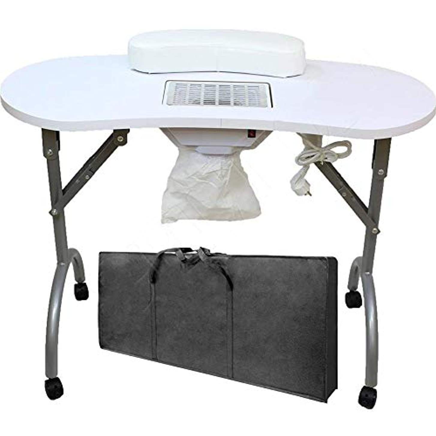基準トリムオセアニアネイルテーブル折りたたみ式ポータブルマニキュアテーブルベントマニキュアテーブルネイルデスクサロンスパネイル掃除機andbag