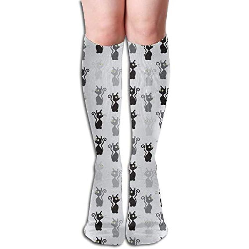 ロケーションまつげ霊Qrriyアスレチックソックスの猫のパターン3 D圧縮ソックス男性のための長い靴下