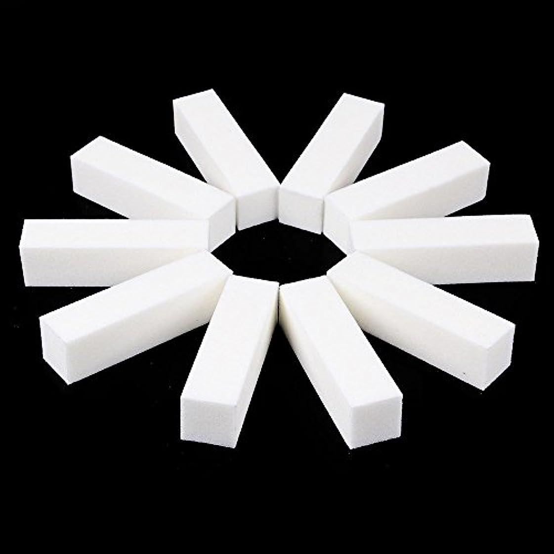 ネイルファイル サンディングブロック マニキュアツール バッファ ホワイト 4ウェイ 12個セット