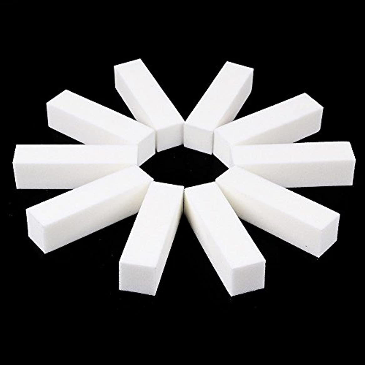 擬人化遠え常習者ネイルファイル サンディングブロック マニキュアツール バッファ ホワイト 4ウェイ 12個セット