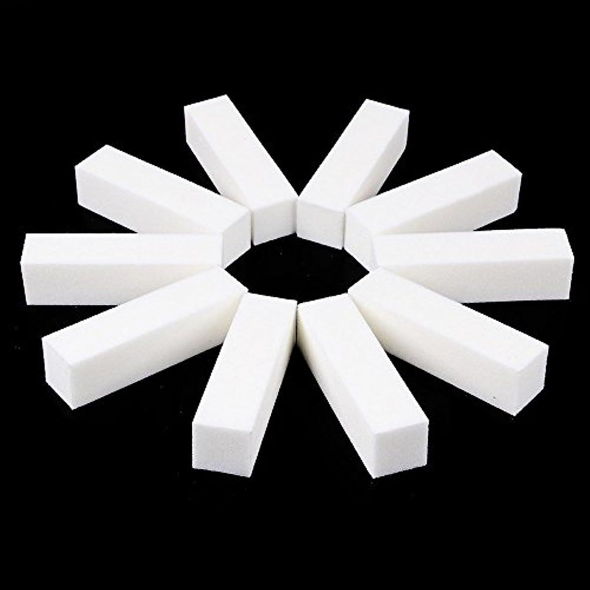 スモッグ発明金属ネイルファイル サンディングブロック マニキュアツール バッファ ホワイト 4ウェイ 12個セット