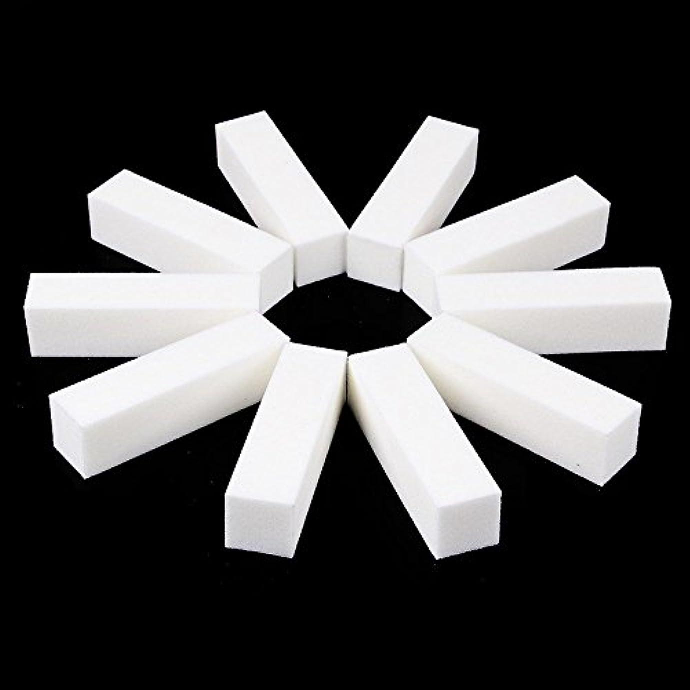 効率的土砂降り軍ネイルファイル サンディングブロック マニキュアツール バッファ ホワイト 4ウェイ 12個セット