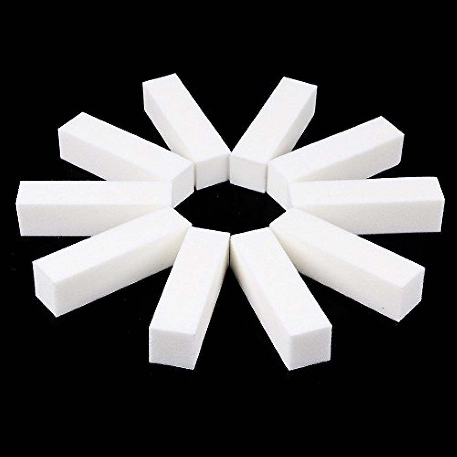 意図するファイル意図的ネイルファイル サンディングブロック マニキュアツール バッファ ホワイト 4ウェイ 12個セット