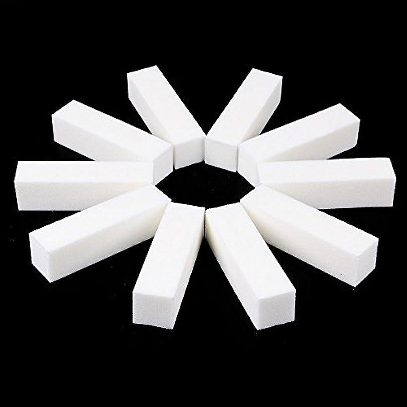 神秘締め切り不均一ネイルファイル サンディングブロック マニキュアツール バッファ ホワイト 4ウェイ 12個セット