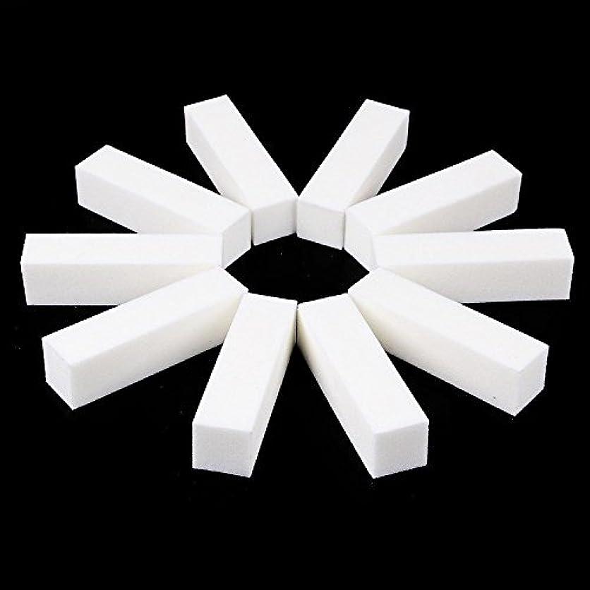 ベアリングクラッシュ香水ネイルファイル サンディングブロック マニキュアツール バッファ ホワイト 4ウェイ 12個セット