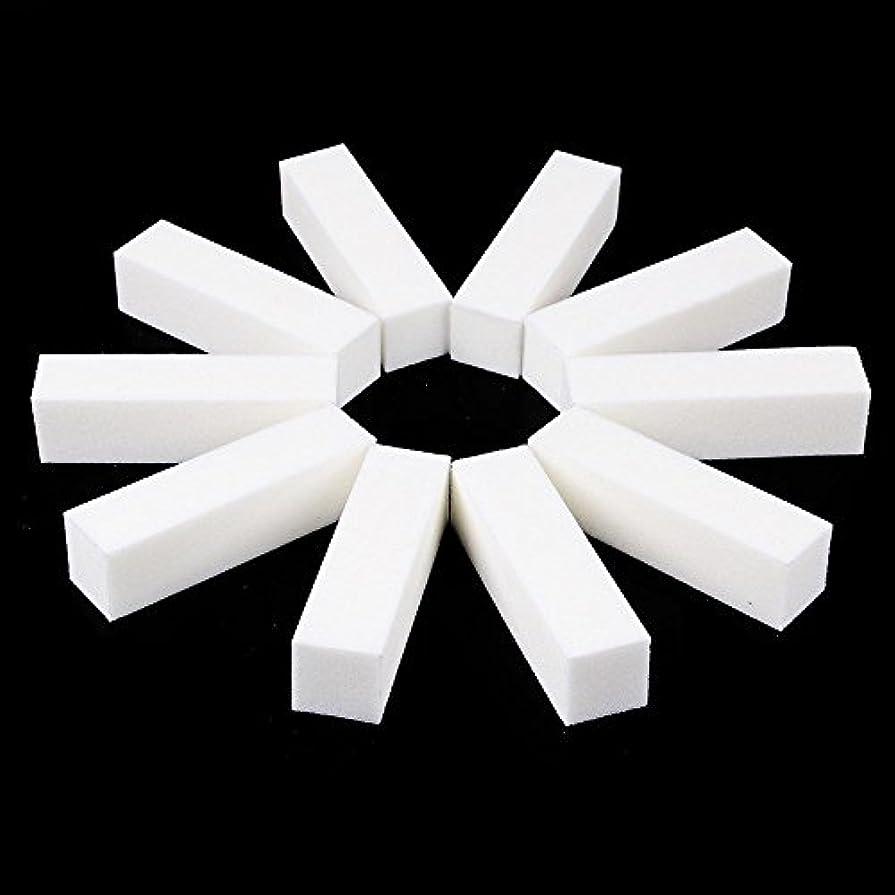 貨物ブーム重要ネイルファイル サンディングブロック マニキュアツール バッファ ホワイト 4ウェイ 12個セット