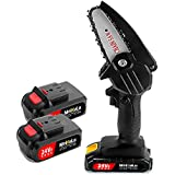 Mini Rechargeable Saw Cordless Electric Chainsaw Battery-Powered Wood Cutter Saw