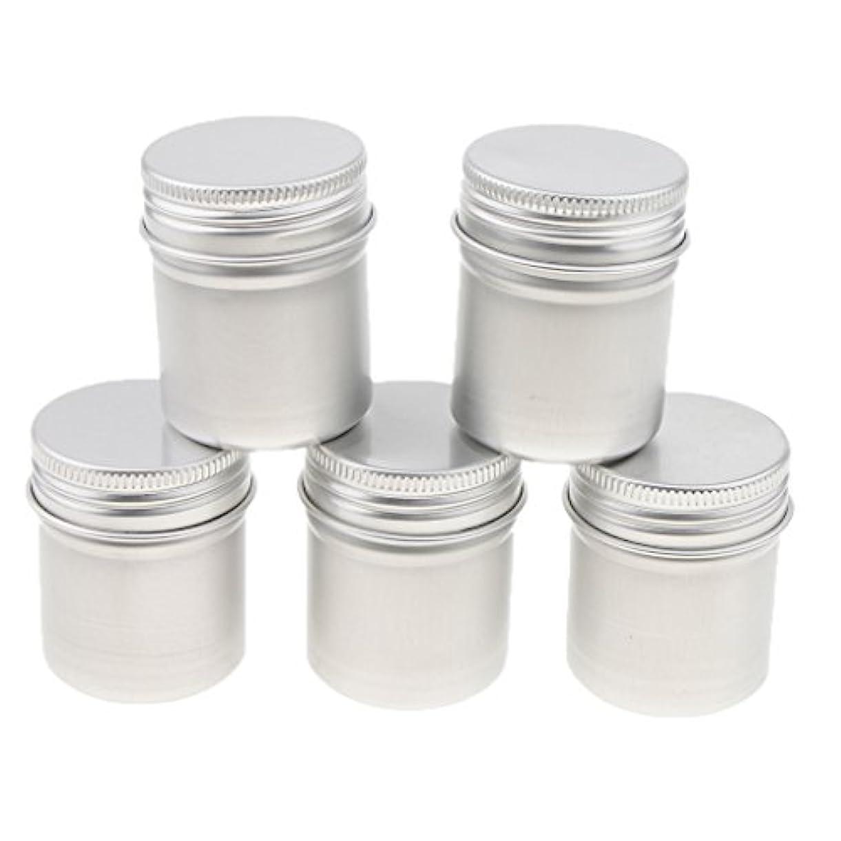 お金司書時間厳守Perfeclan 5個 アルミ缶 アルミニウム 缶 ポット スクリュー蓋 クリーム お茶 パウダー ワックスジャー 容器