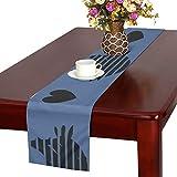 GGSXD テーブルランナー 親しい ブルー猫 クロス 食卓カバー 麻綿製 欧米 おしゃれ 16 Inch X 72 Inch (40cm X 182cm) キッチン ダイニング ホーム デコレーション モダン リビング 洗える