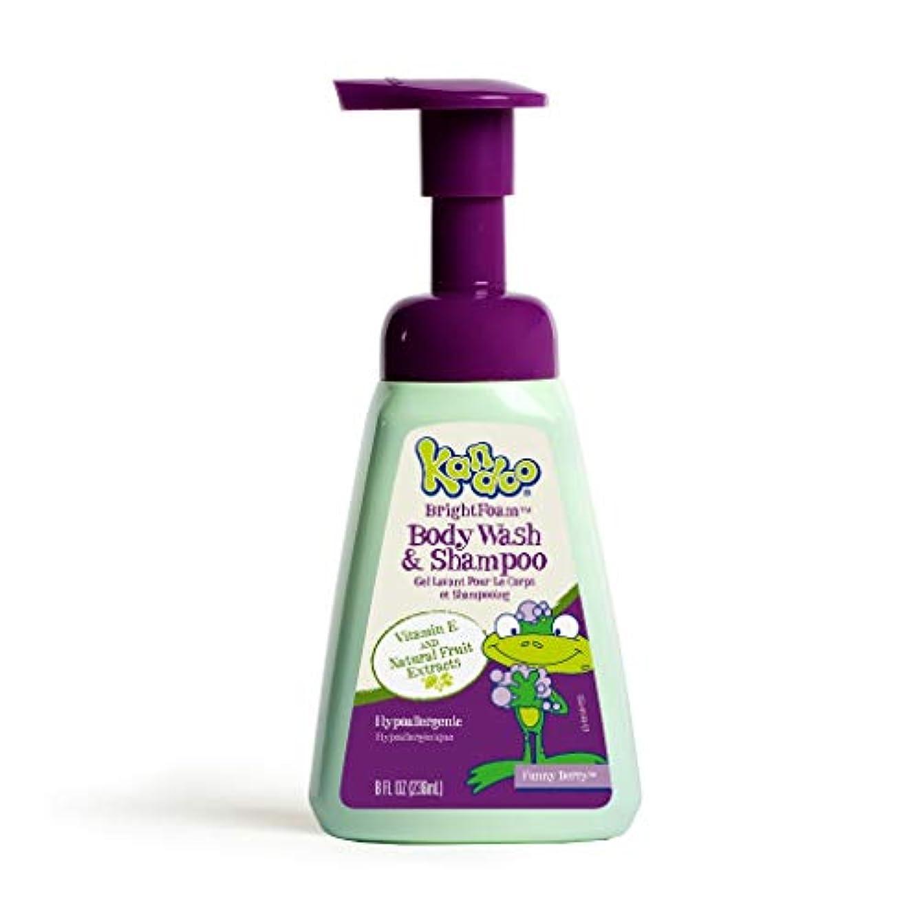 持続する製油所兵隊Kandoo BrightFoam Body Wash, Funny Berry Scent, 8.4 Fluid Ounce by Kandoo