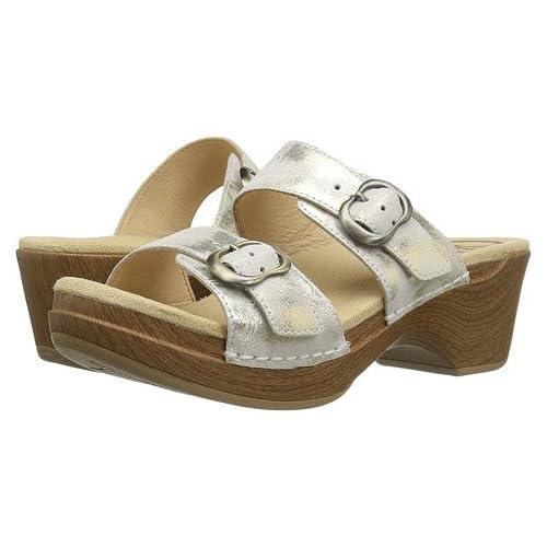 (ダンスコ)Dansko レディースサンダル・靴 Sophie Ivory/Gold Metallic US Women's 7.5-8 24-24.5cm Regular [並行輸入品]