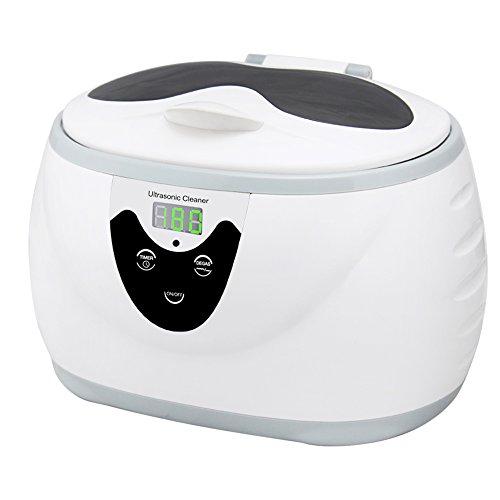超音波洗浄機 600ml 42,000Hz 洗浄器メガネ 時計 入れ歯洗浄機 アクセサリー洗浄 食器用洗浄 5段階タイマー設定可能 日用小物クリーナー
