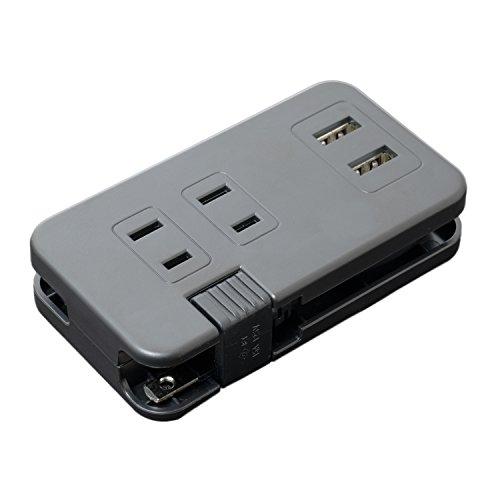 ミヨシ MCO モバイルタップ USB2ポ-ト、ACコンセン...
