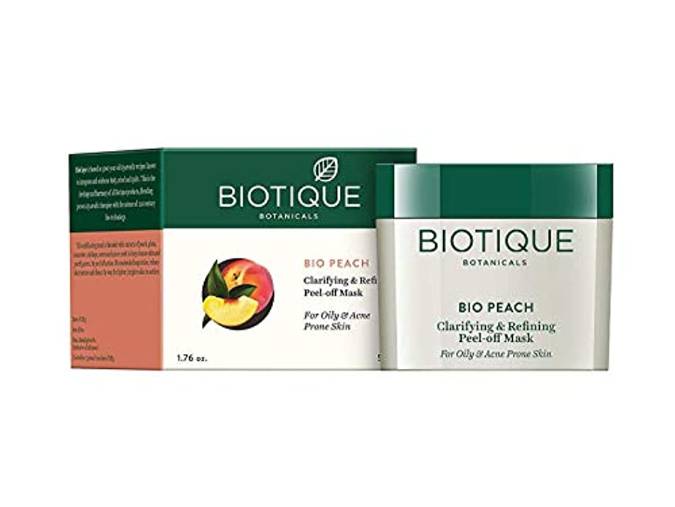 Biotique Peach Clarifying & Refining Peel-Off Mask For Oily, Acne Prone Skin 50g 油性、にきびが発生しやすい肌のためのBiotique桃の清澄化...