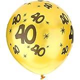 20PCSパーティーバルーン、装飾的なボールビルドバルーン風船 明るい色 番号印刷 ラテックスバルーン パーティー 素晴らしいデコレーション(1)