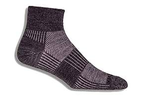 WRIGHTSOCK(ライトソック) MERINO COOLMESHII (メリノ クールメッシュII) Quarterタイプ(クォータータイプ) メリノウール 薄手 靴擦れ防止 靴ムレ防止 W0017GRS グレー Small (21.5~23.0cm)