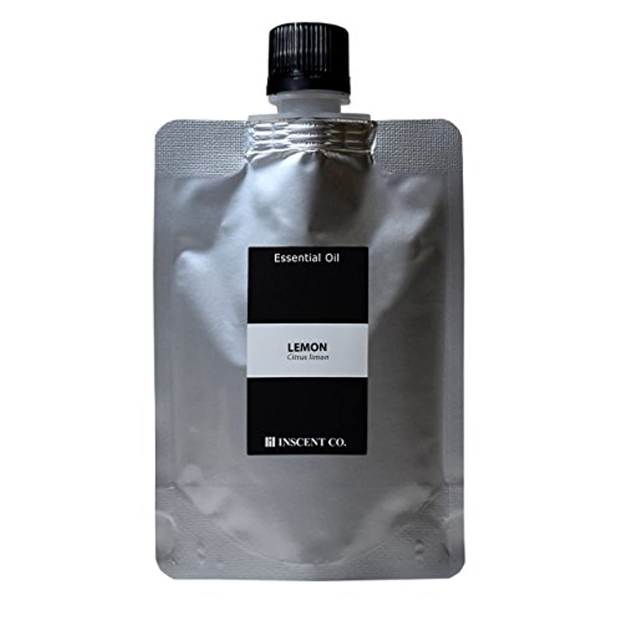 電話に出る貝殻分解する(詰替用 アルミパック) レモン 100ml インセント アロマオイル AEAJ 表示基準適合認定精油