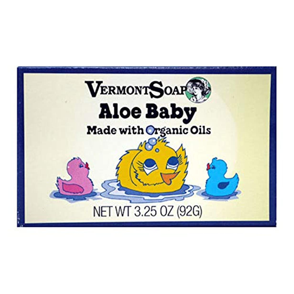 気分変装したシャイニングバーモントソープ アロエベビー オーガニック 全身ベビーソープ 赤ちゃん石鹸 92g