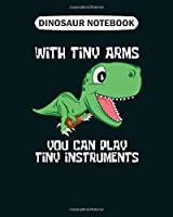 Dinosaur Notebook: dino t rex ukulele small funny sweet music gift  College Ruled - 50 sheets, 100 pages - 8 x 10 inches