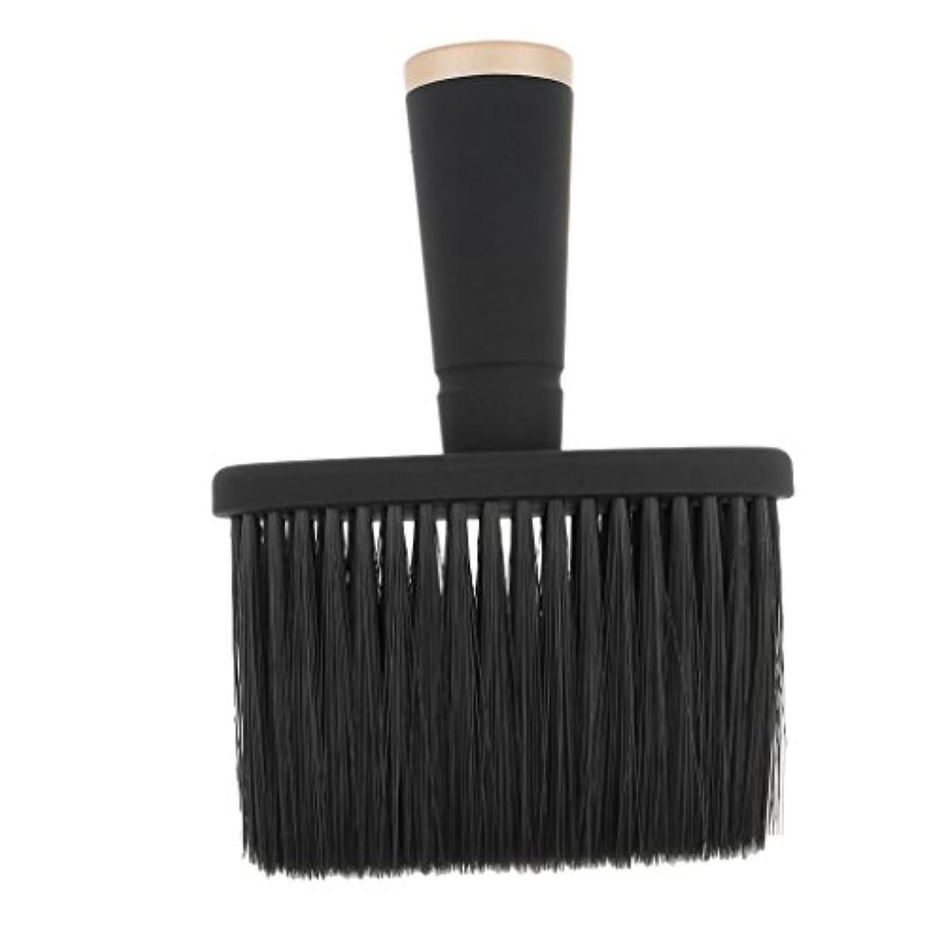 クレジット縞模様の花Toygogo プロの理髪師の首のダスターのブラシ、毛の切断のための柔らかいクリーニングの表面ブラシ、携帯用設計 - ゴールド