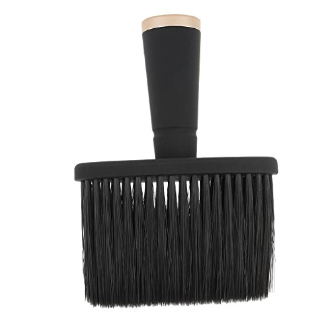 訴える保証金カーテンToygogo プロの理髪師の首のダスターのブラシ、毛の切断のための柔らかいクリーニングの表面ブラシ、携帯用設計 - ゴールド
