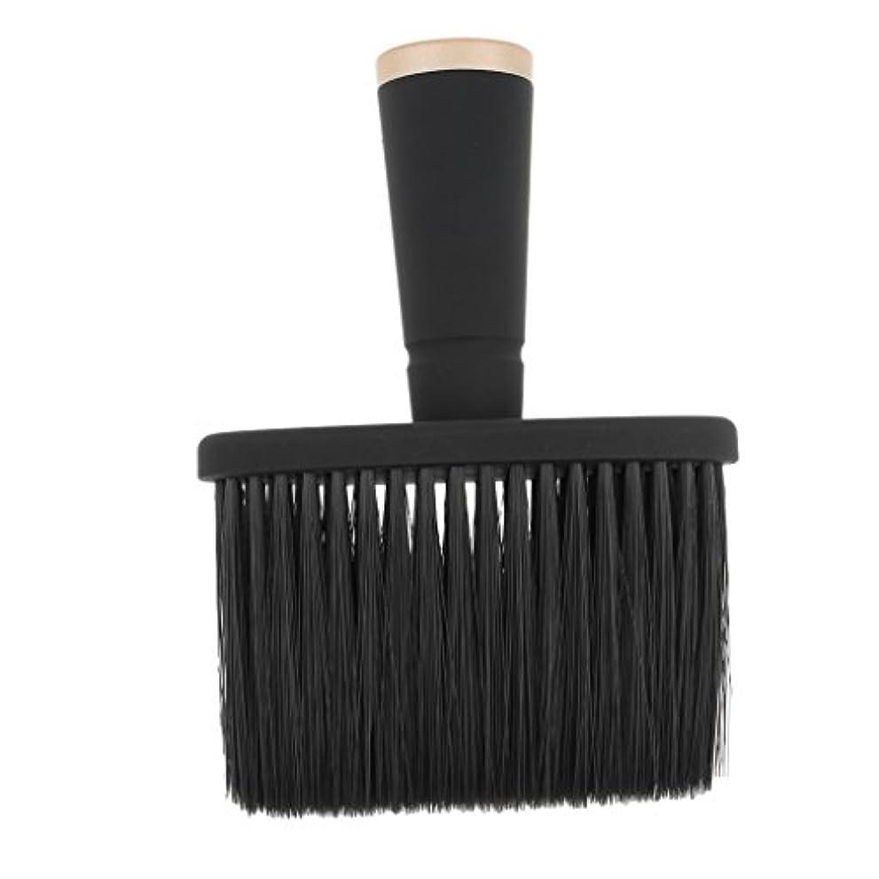 がっかりした建築家手紙を書くToygogo プロの理髪師の首のダスターのブラシ、毛の切断のための柔らかいクリーニングの表面ブラシ、携帯用設計 - ゴールド