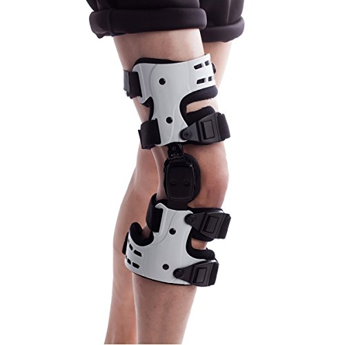 膝サポーター 膝 関節 装具(白, 右)
