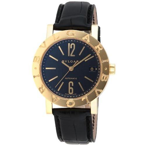 [ブルガリ]BVLGARI 腕時計 ブルガリブルガリ ブラック文字盤 K18YG無垢ケース アリゲーター革ベルト 自動巻き BB38BGLDAUTO メンズ 【並行輸入品】