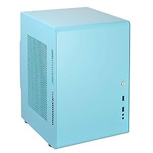 Dirac Qbeeシリーズ Mini-ITX対応キューブケース Qbee03 ミントブルー Qbee03-MINT BLUE