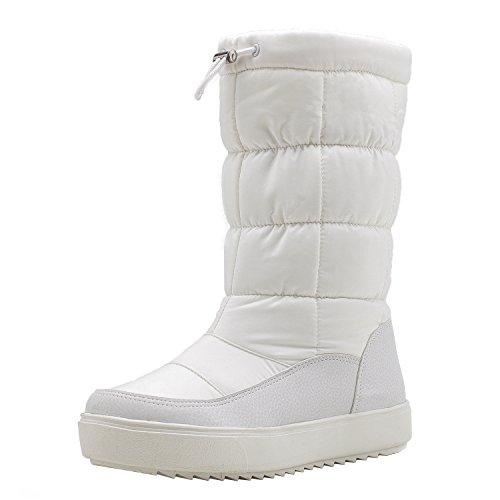 [Shenji] レディースブーツ スノーブーツ ロングブーツ 防寒防滑雪靴 ホワイト 24.5cm