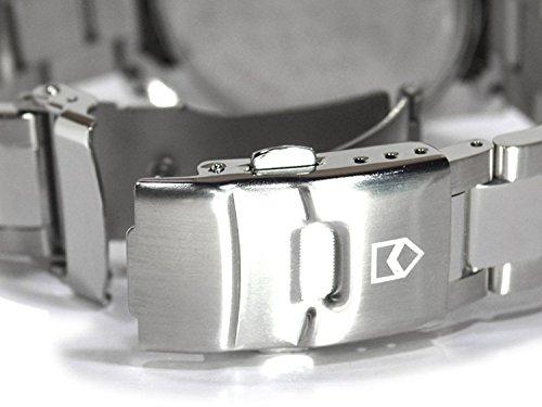 Don Clark ダンクラーク メンズ腕時計 クロノグラフ 10気圧防水 天然ダイヤ1P オールステンレス ネイビー ブルーダイヤル DM2051004