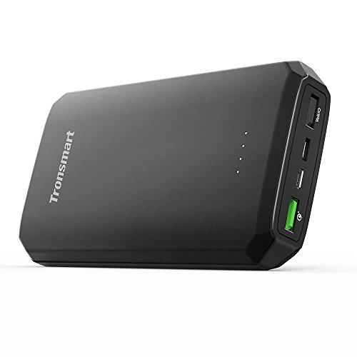 [Quick Charge 3.0対応] Tronsmart 20000mAh モバイルバッテリー 大容量(QC3.0 & Huawei FCP対応 3ポート 6A出力 USB Type C入出力 携帯充電器)急速充電 / iPhone / Galaxy / Xperia / Huawei Mate 9 / Android各種他対応