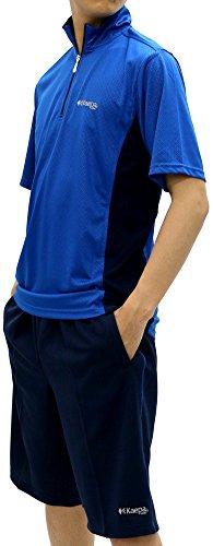 Kaepa(ケイパ) ランニングウェア 上下セット ドライ スポーツ Tシャツ ジャージ ショートパンツ メンズ ロイヤルブルー L