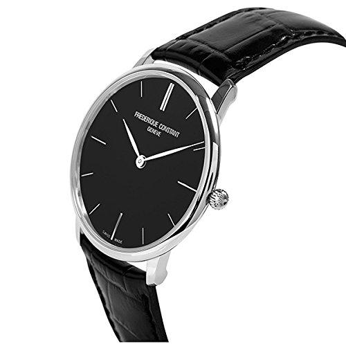 [フレデリックコンスタント]FREDERIQUE CONSTANT メンズ シルバーケース ブラック文字盤 39mm ブラック レザー FC-200G5S36 腕時計 [並行輸入品]