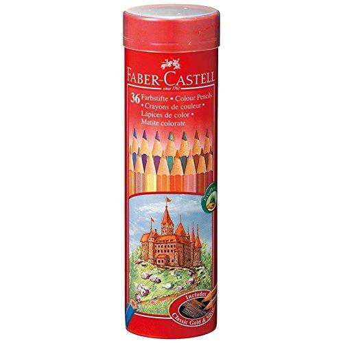 油性色鉛筆 丸缶 36色セット TFC-CPK/36C