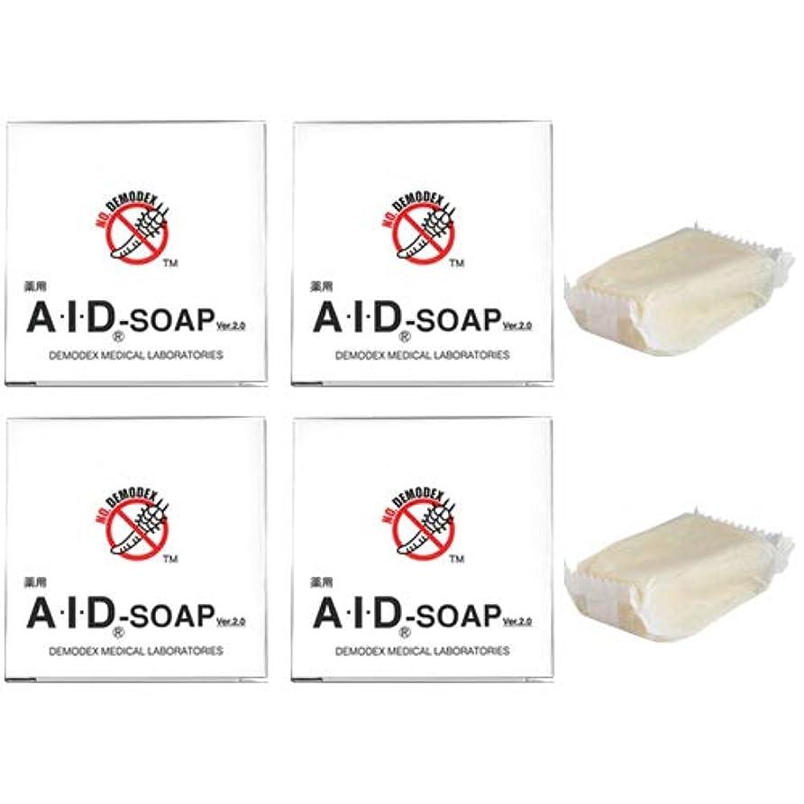 溝見かけ上ポインタ薬用AIDソープ (40g×4、30g×2 計6個セット 総内容量:220g)