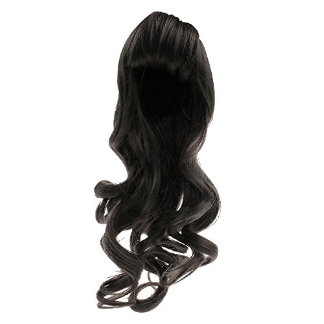 望遠鏡層豊かな人形用 ドールウィッグ かつら 巻き毛 波状髪 セクシー 前髪 ブライス人形適用 全6色選べ  - #1