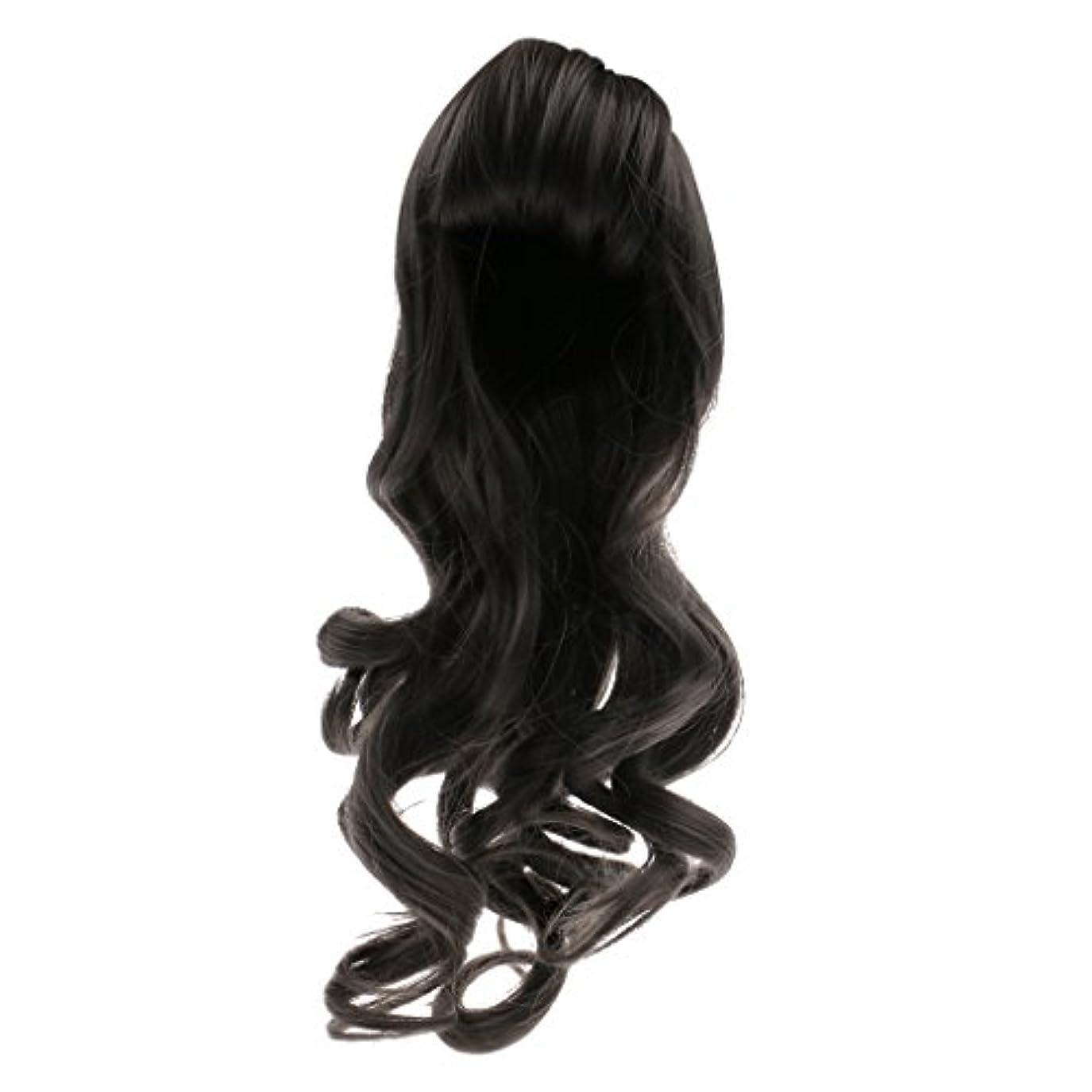 バッグ熱心なモーション人形用 ドールウィッグ かつら 巻き毛 波状髪 セクシー 前髪 ブライス人形適用 全6色選べ  - #1