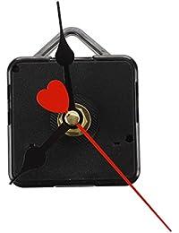 SODIAL(R) ムーブメント機構クォーツ時計ブラック3針ルージュDIY修理