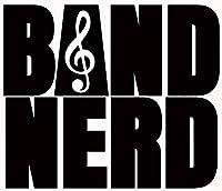 Band Nerd ビニールデカールステッカー 車 トラック 壁 ノートパソコン 携帯電話 タンブラー ロッカーデコレーション 幅5.5インチ x 高さ4.6インチ 親子 HGC3074 ブラック