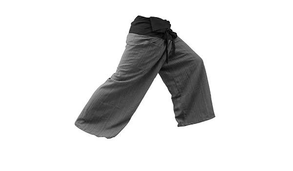 acdc61fac564f THAICOMPLEX 2 TONE Thai Fisherman Pants Yoga Trousers FREE SIZE Plus Size  Cotton Sumalee