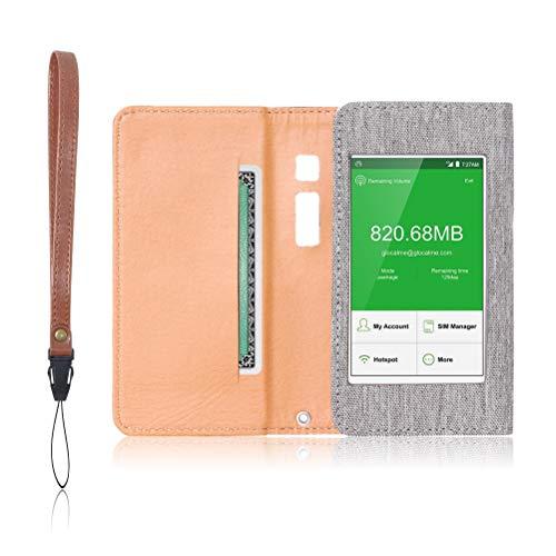 GlocalMe G3 専用 モバイルルーター ケース 保護フィルム 付 (ライトグレー)