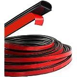 HOTSYSTEM D-Shape Door Rubber Seal Strip Weatherstrip Hollow 3M for Car Truck Motor Door Cover Trunk (Black, 26.25feet)