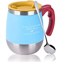 マグカップ 保温 Oncezytime 真空断熱タンブラー ふた付き 二重構造 携帯マグ 水筒 304ステンレス 450ML 軽量 使い勝 手良い 全4色 (ブルー)